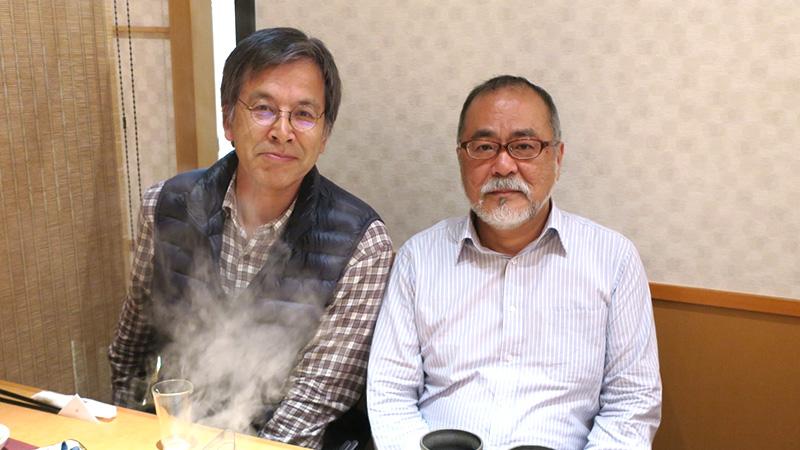 鹿児島にて、ラ・サールの先輩山下和美さんと。-田中義幸公認会計士事務所