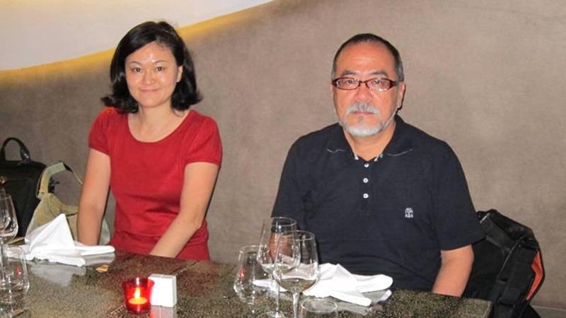 ビエンチャンにて、SVAの伊藤解子さんと(2011年9月)-田中義幸公認会計士事務所